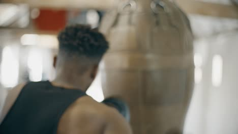 Slow-Motion-Boxer-Training-With-Boxing-Bag
