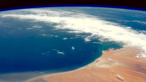 Graded-Footage-of-Mauritania-and-Atlantic-From-Space