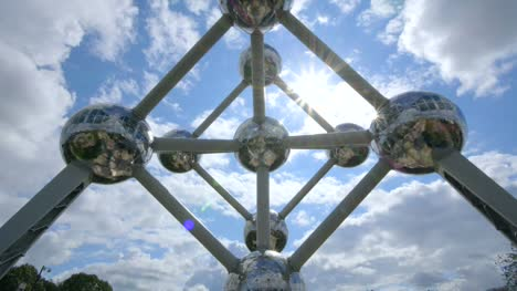 Sun-Shining-Through-Atomium-Monument