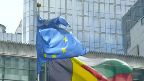 EU-and-Belgian-Flags-in-Brussels-2