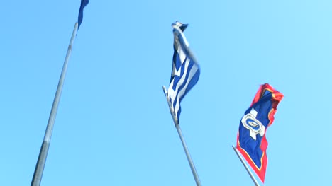 Greek-and-Athens-Flag-Flying