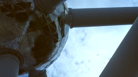 Close-Up-of-Atomium-Monument-Sphere-