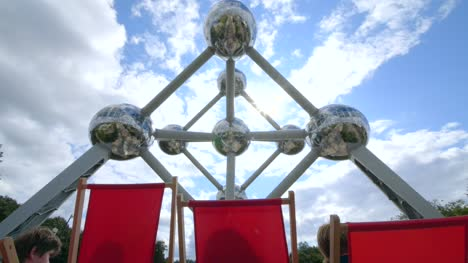 Deckchairs-by-the-Atomium-in-Brussels