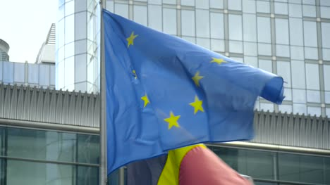 EU-and-Belgian-Flags-in-Brussels