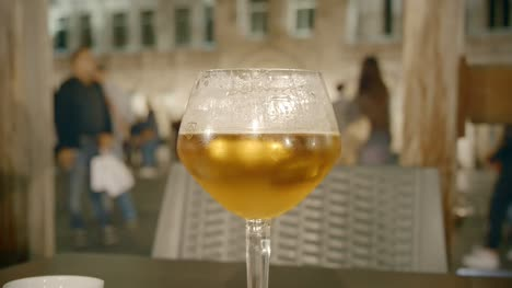 Glass-of-Beer-in-Belgian-Bar