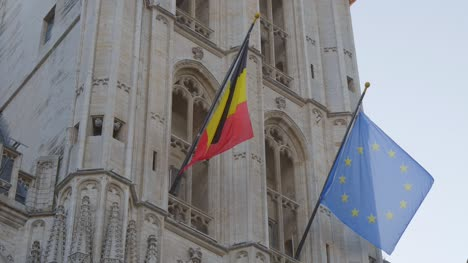 EU-and-Belgian-Flags-on-Brussels-Town-Hall