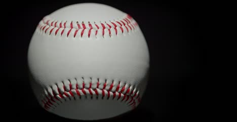 Baseball-Rotating-on-Black-Background