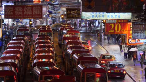 Minibus-Traffic-Jam-in-Hong-Kong