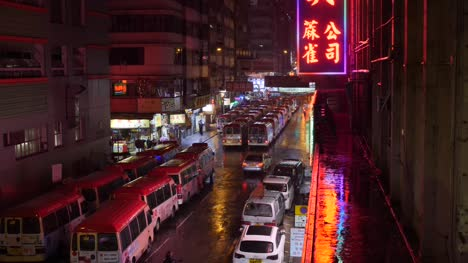 Hong-Kong-Minibuses-in-the-Rain