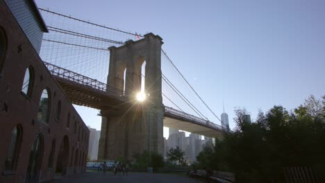 Sun-Shining-Through-Brooklyn-Bridge