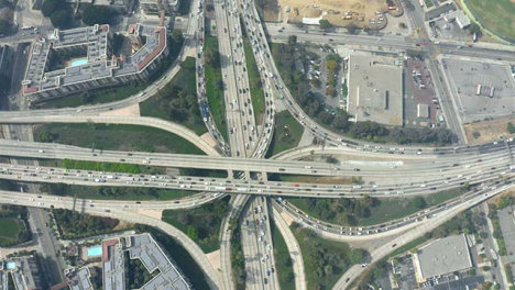Aerial-View-of-Four-Level-Interchange-LA