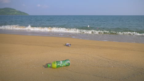 Plastic-Bottles-on-a-Sandy-Beach
