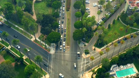 Intersection-in-Beverly-Hills-from-Above
