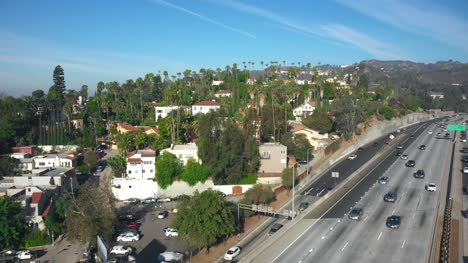 Aerial-Pan-Over-Hollywood-Freeway