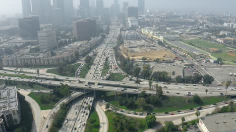 Aerial-Shot-of-Four-Level-Interchange-LA