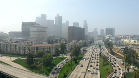 Flying-Over-Four-Level-Interchange-LA
