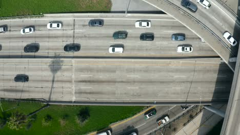Top-View-of-Traffic-on-Freeway