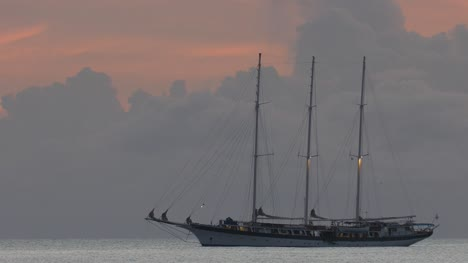 Sailboat-at-Dusk-in-Caribbean