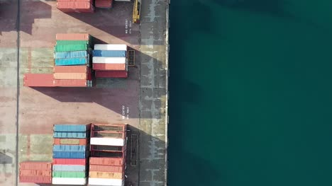 Drone-Flight-Over-Container-Port