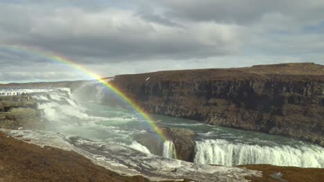 Rainbow-Over-Gullfoss-Waterfall