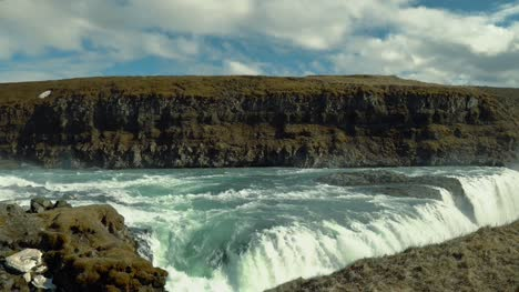 Panning-Over-Gullfoss-Waterfall