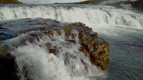 Rocky-Section-of-Gullfoss-Waterfall