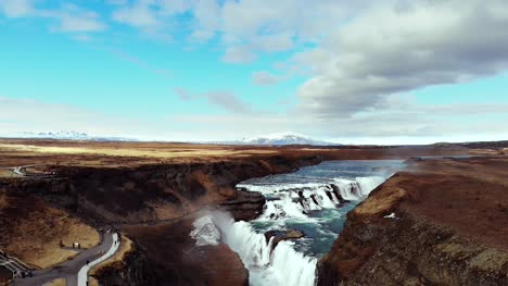 Rising-Up-Over-Gullfoss-Waterfall