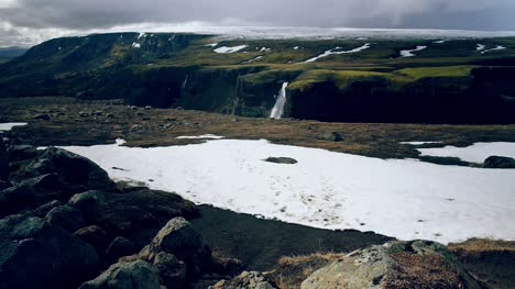 Icelandic-Landscape-With-Waterfall
