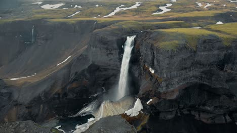 Aerial-View-of-Haifoss-Waterfall