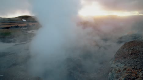 Reveal-Shot-of-Geothermal-Steam