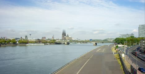 River-Rhine-in-Cologne-4K