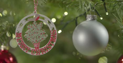 CU-of-Decorations-on-Christmas-Tree-1