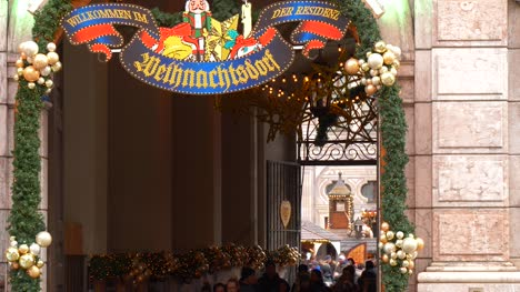 Munich-Residenz-Christmas-Village-Entrance