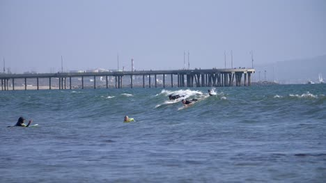 Surfers-Riding-Waves-in-LA
