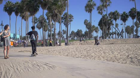 Skateboarders-On-Venice-Beach-Path-LA