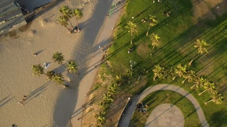Aerial-View-Of-Venice-Beach-Path