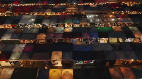 Stalls-in-Rachada-Train-Market-From-Above