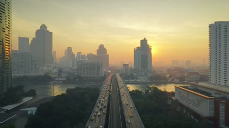 Flying-Along-Taksin-Bridge