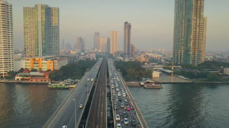 Taksin-Bridge-Traffic-at-Dawn