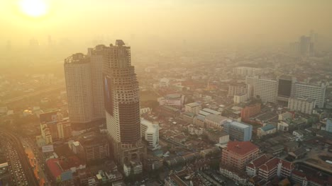 Sathorn-Unique-Tower-in-Bangkok-at-Dawn