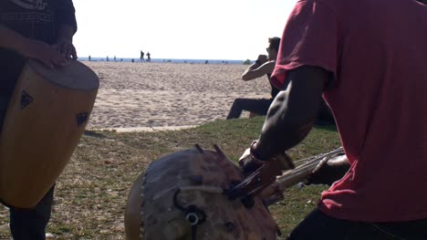 Playing-The-Kora-And-Drums
