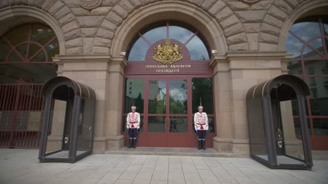Honor-Guards-Outside-Presidency-Building-Sofia