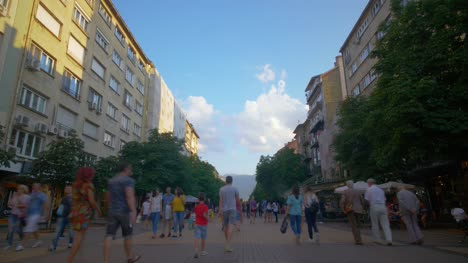 Time-Lapse-of-Crowds-in-Sofia-Bulgaria