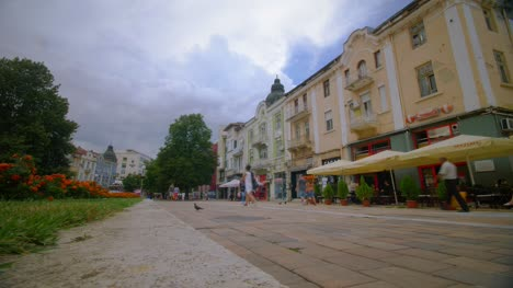 Time-Lapse-of-Colourful-Street-in-Sofia