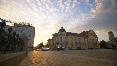 Bulgarian-Academy-of-Science-at-Sunset