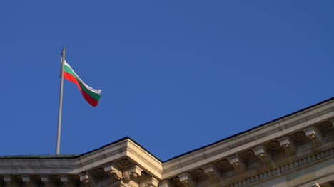 Bulgarian-Flag-Flying-Against-Blue-Sky