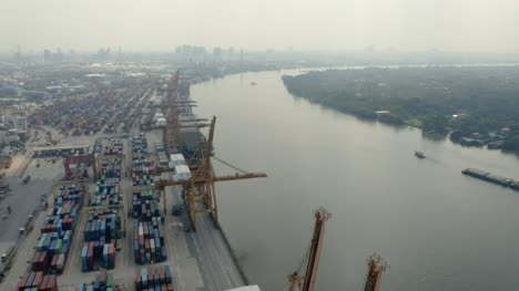 Container-Port-Cranes-by-River