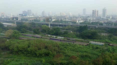 Trains-Parked-Outside-Bangkok