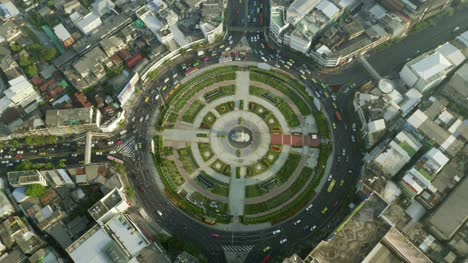 Aerial-View-of-Wongwian-Yai-Roundabout