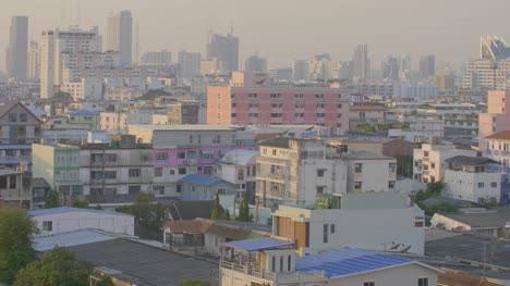 Bangkok-Rooftops-Timelapse-in-Evening-Sun